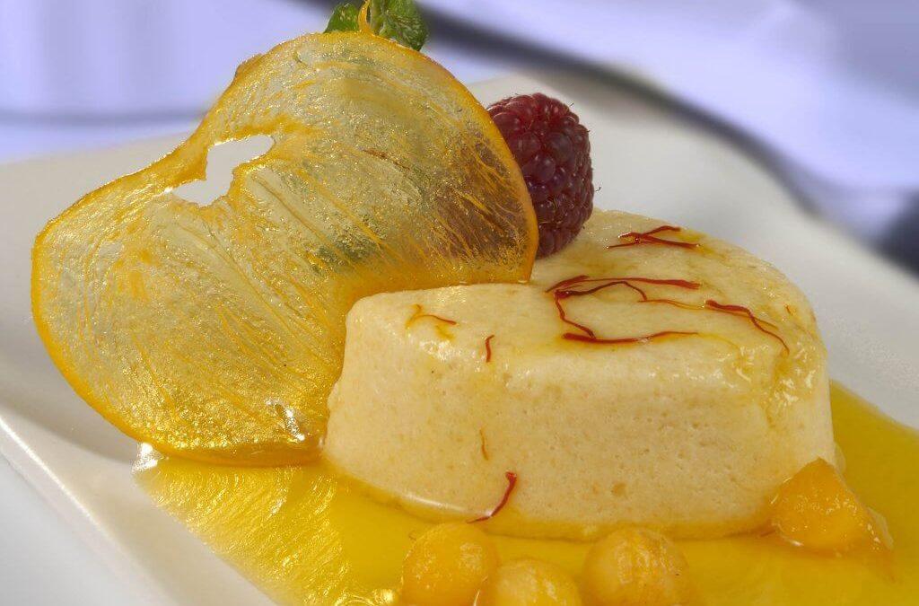 Persimon® foam with saffron syrup