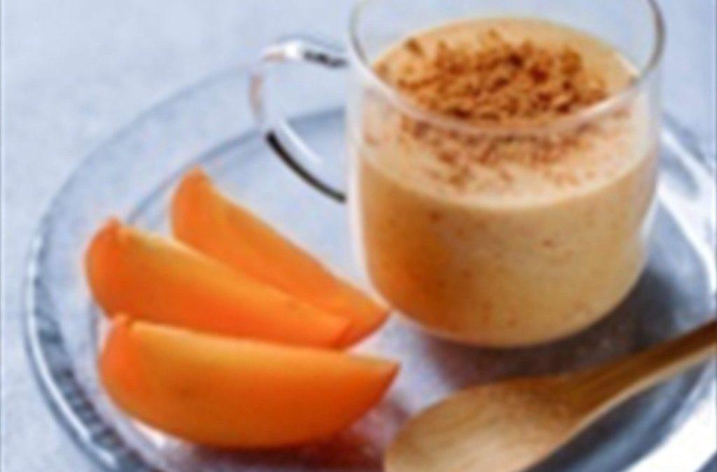 Persimon® kaki panna cotta, with Speculaas cookie powder